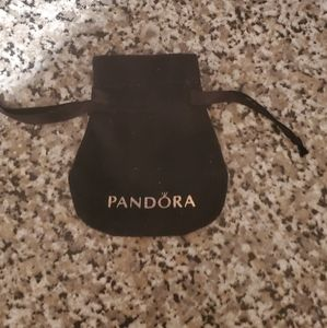 Pandora jewelry bag black